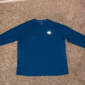 Blue The North Face long sleeve shirt